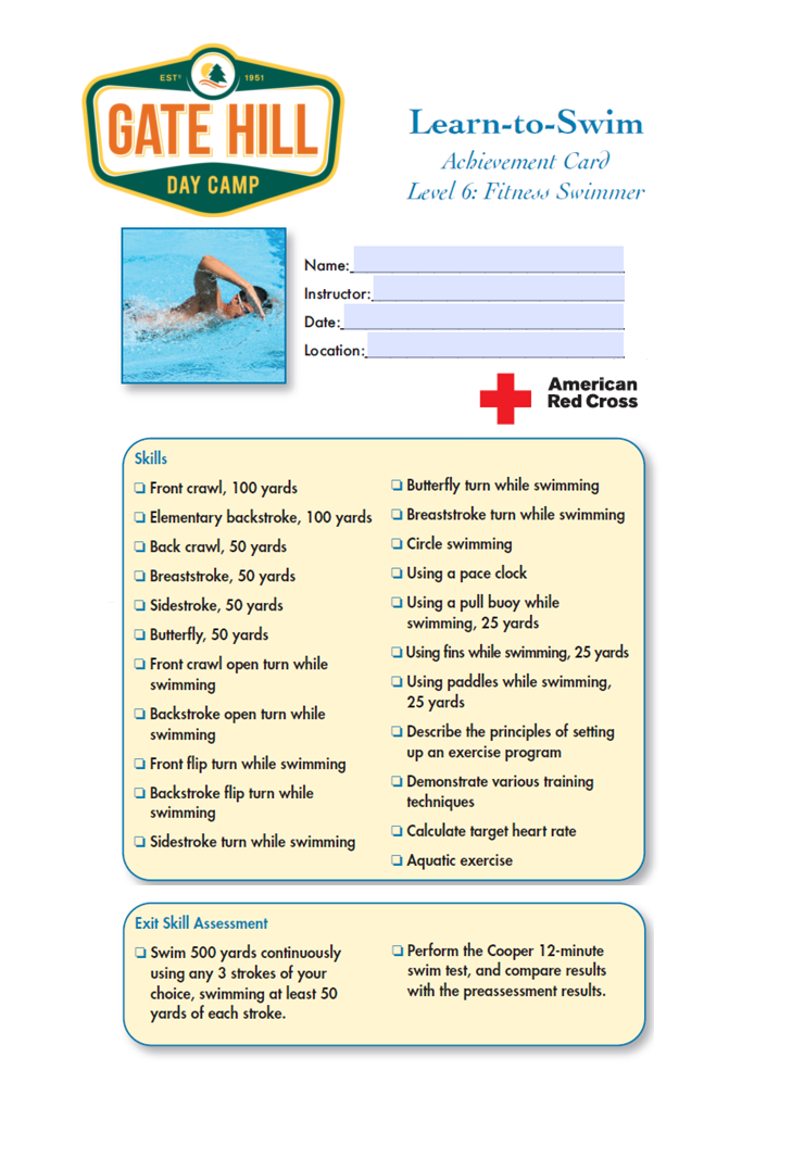 American Red Cross Swim Levels - Smugglers' Notch Resort